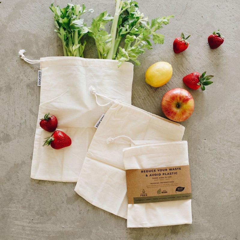 Reusable Cotton Muslin Bags